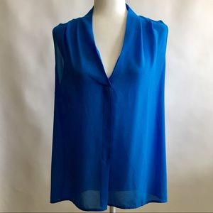 Rose & Olive Blue Sleeveless Top Size XL